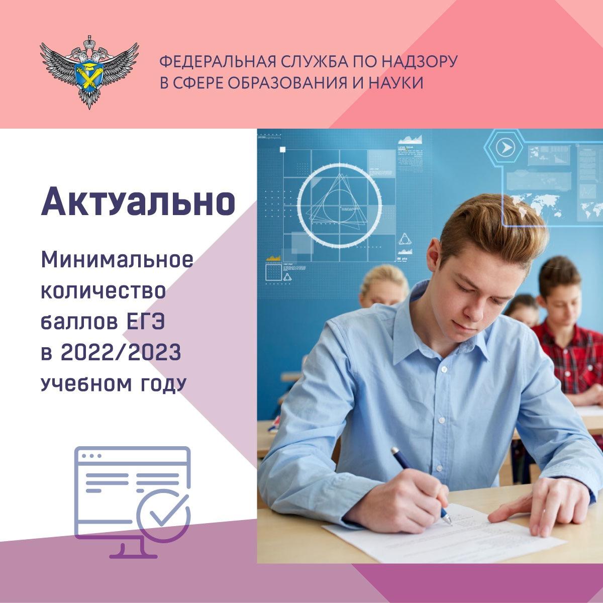 Утверждены проходные баллы ЕГЭ для поступления в подведомственные вузы на 2022/2023 учебный год